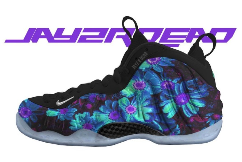 Nike Air Foamposite One Floral with Colorful design