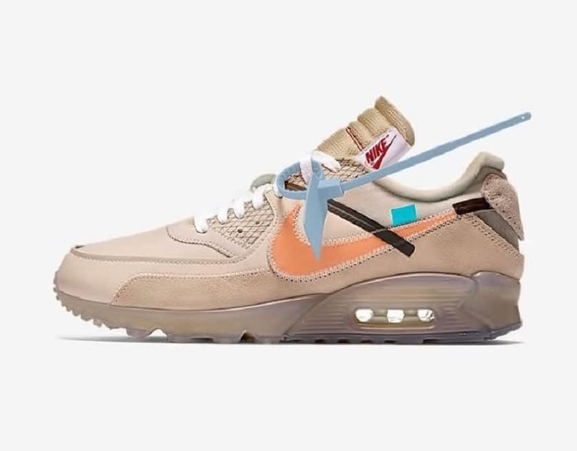 Off-White x Nike Air Max 90 with Brilliant colorway