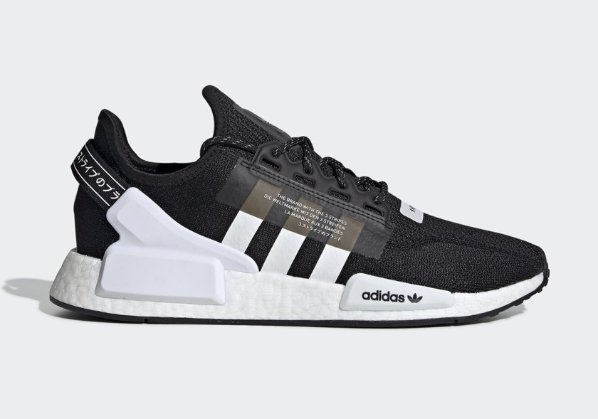 Adidas NMD R1 V2 with classic black colors