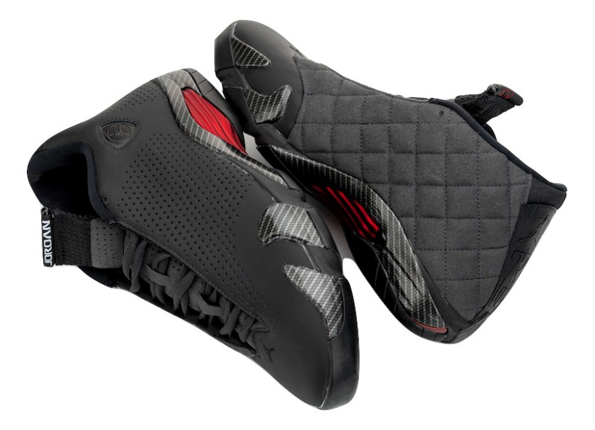 Air Jordan 14 Ferrari with various materials