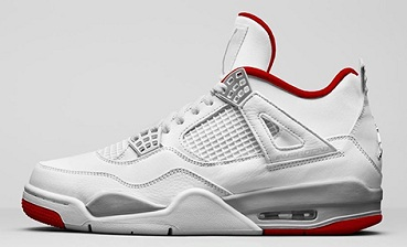 Air Jordan 4 'White University Red'