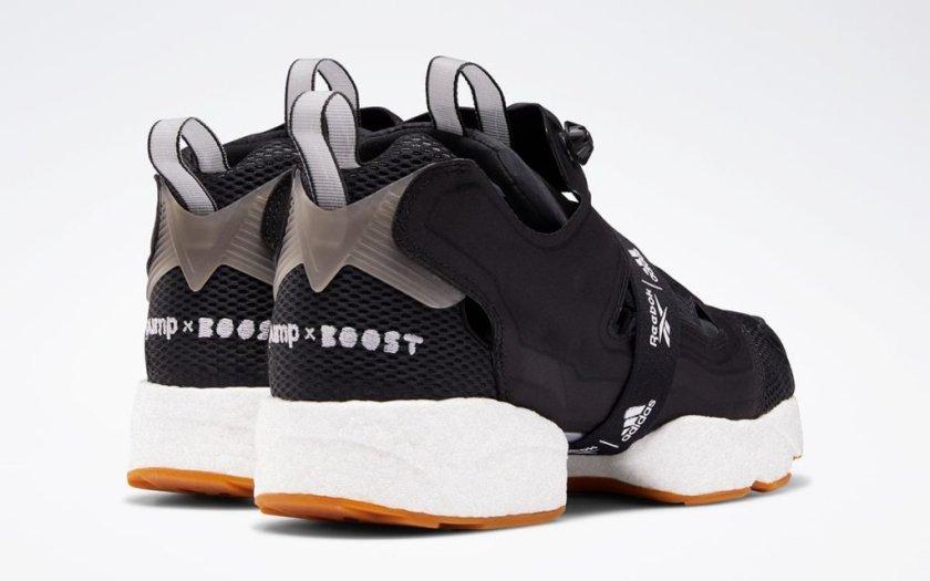Reebok Instapump Fury Boost Black with heel technology
