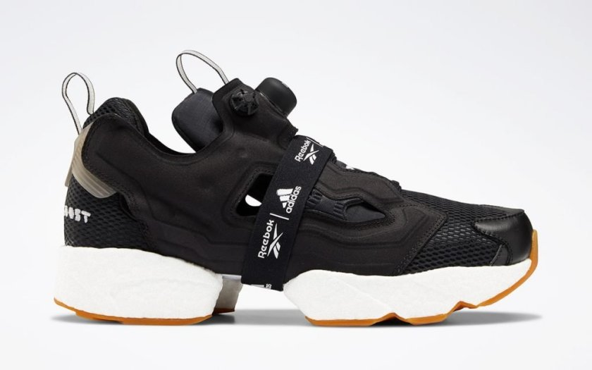 Reebok Instapump Fury Boost Black with instapump technology
