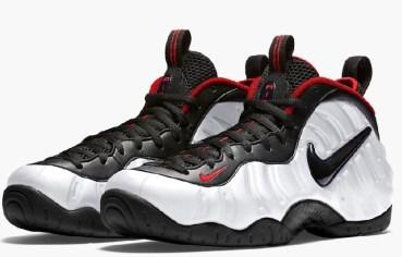 Nike Air Foamposite Pro White Black University Red