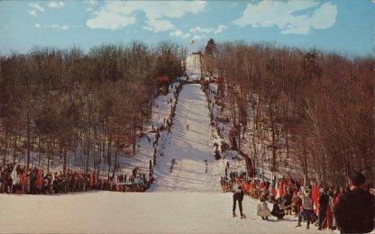A historic postcard view of Harris Hill in Brattleboro, Vt. Photo courtesy of Dana Sprague.