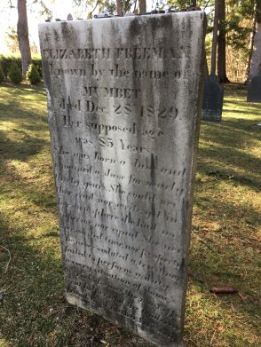 Freeman was so beloved by the Sedgwick family, she is buried in their family plot adjacent to the Stockbridge Cemetery. Photo: Rebecca Sheir