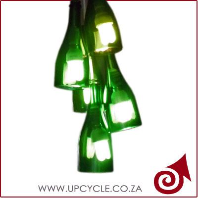 green wine bottle light fitting