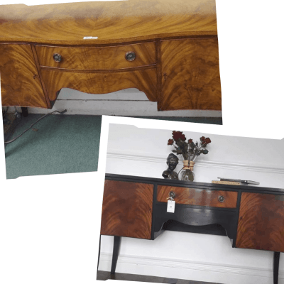 How to Upcycle a Vintage Buffet – Graphite & Gold