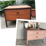 upcycled chest of drawers pink