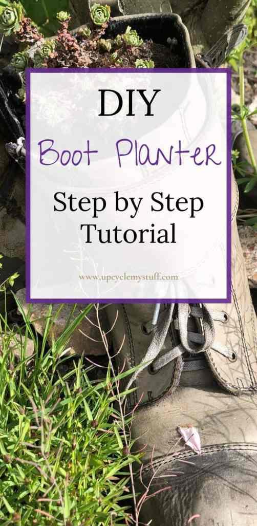 DIY boot planter