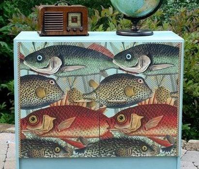 fish print sideboard