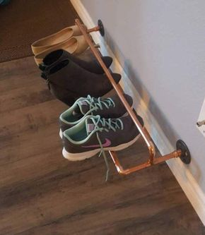 last minute fathers day gift ideas copper piping shoe rack
