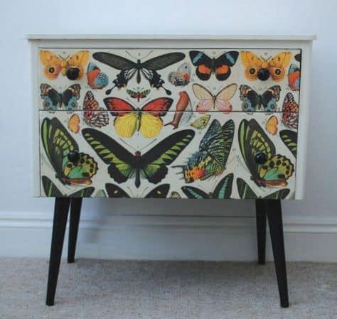 butterfly print sideboard