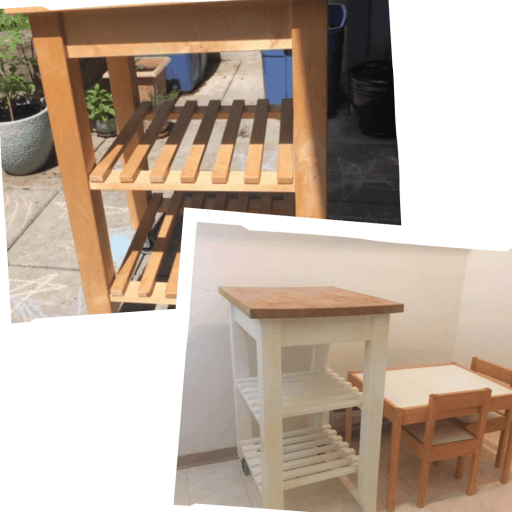 kitchen trolley before and after
