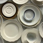 Upcycle dish plates as wall art