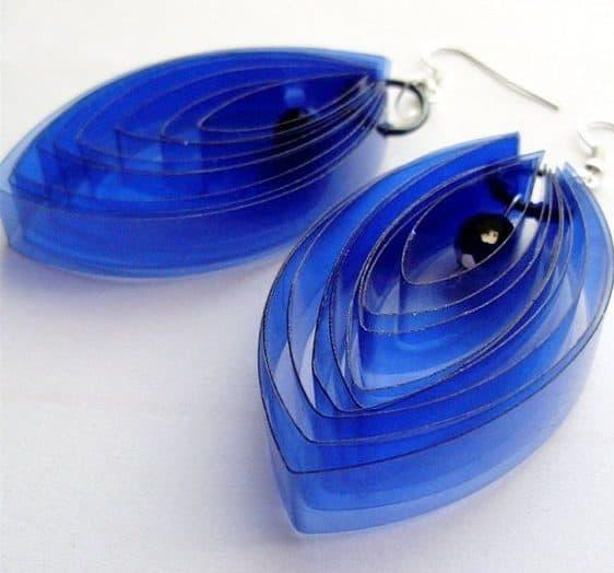how to make plastic bottle earrings