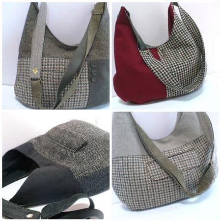 suit jacket bag upcycle