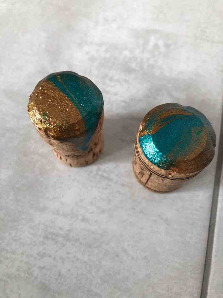 diy marble drawer pulls with corks