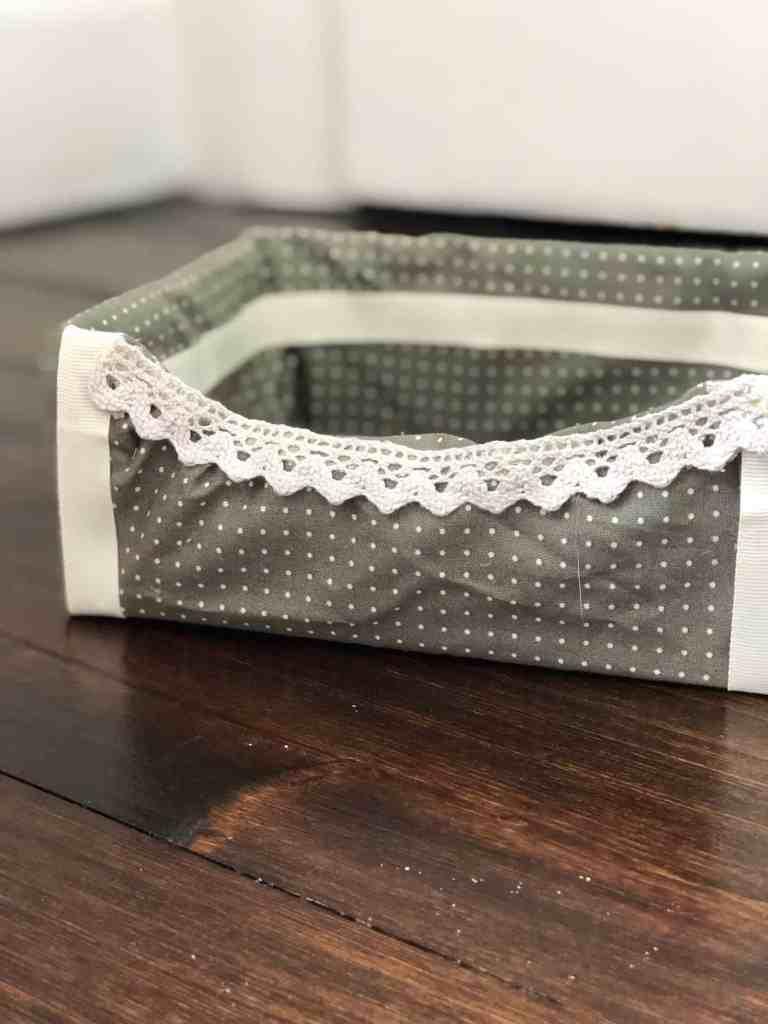 fabric covered cardboard box