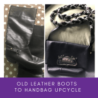 How to Upcycle Leather Boots into a Handbag - Foldover Purse with Strap