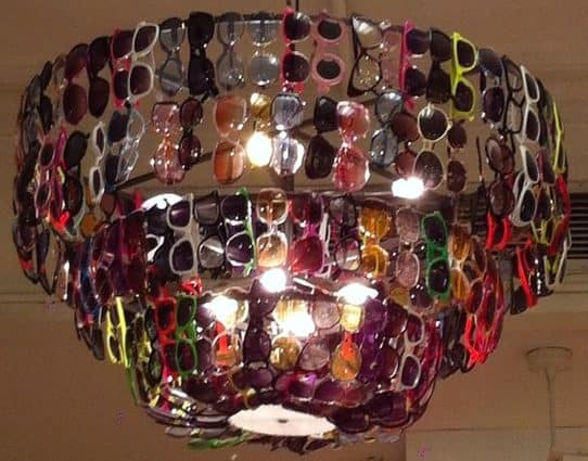 sunglasses chandelier