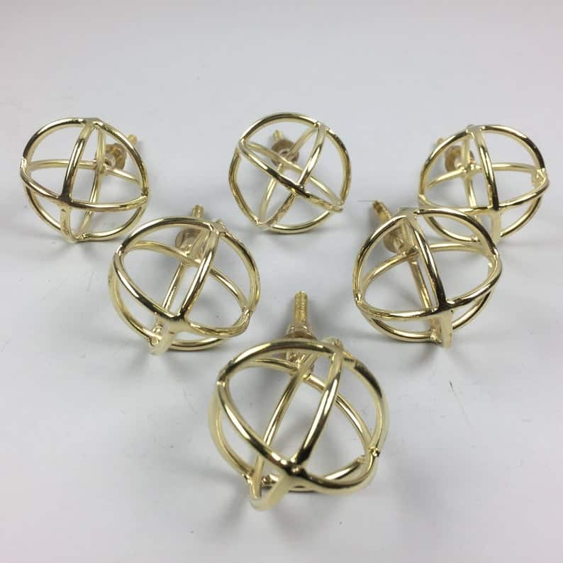 geometric atlas gold drawer pulls