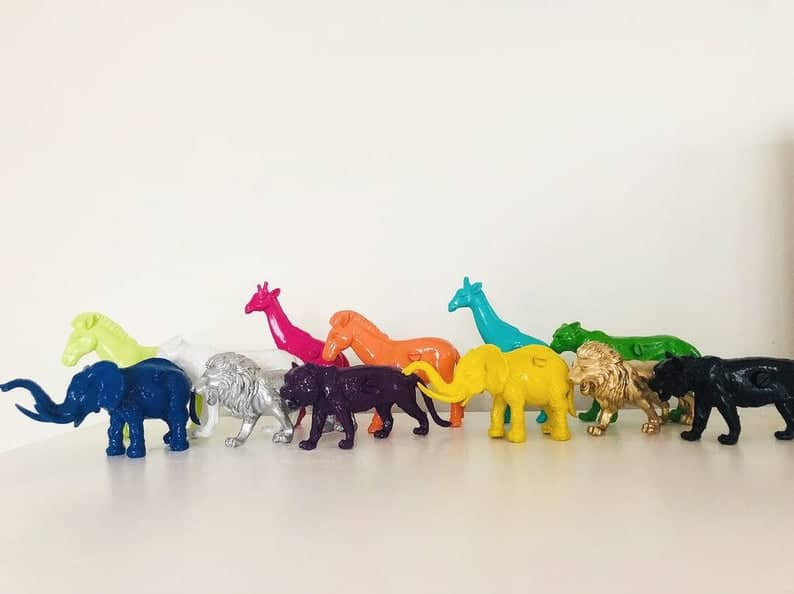 safari animals drawer pulls