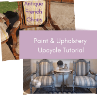 How to Upcycle Antique French Fauteuil Chairs - Painting & Upholstery Tutorial