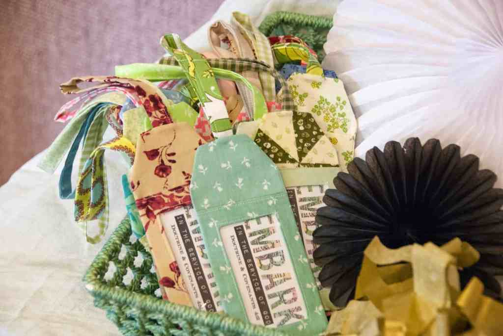 fabric remnant luggage tags