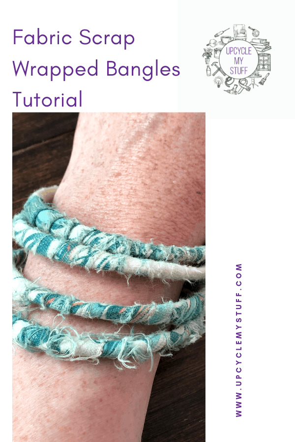 scrap fabric wrapped bangle tutorial