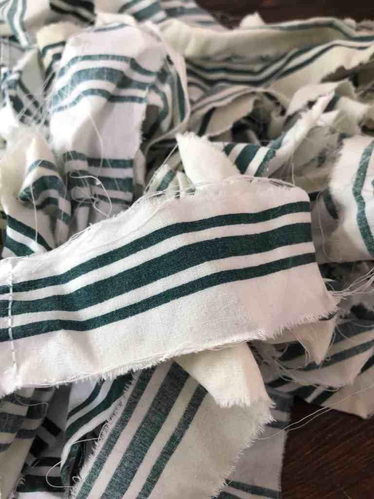 scrap fabric strips
