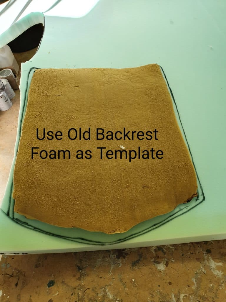 upholstery foam template