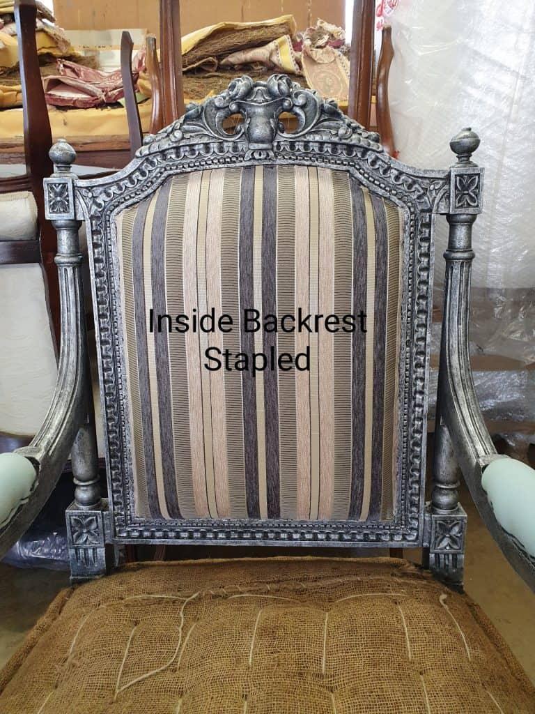 upholstery tutorial inside backrest