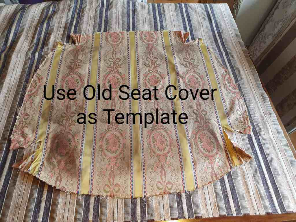 how to reupholster seat cover template