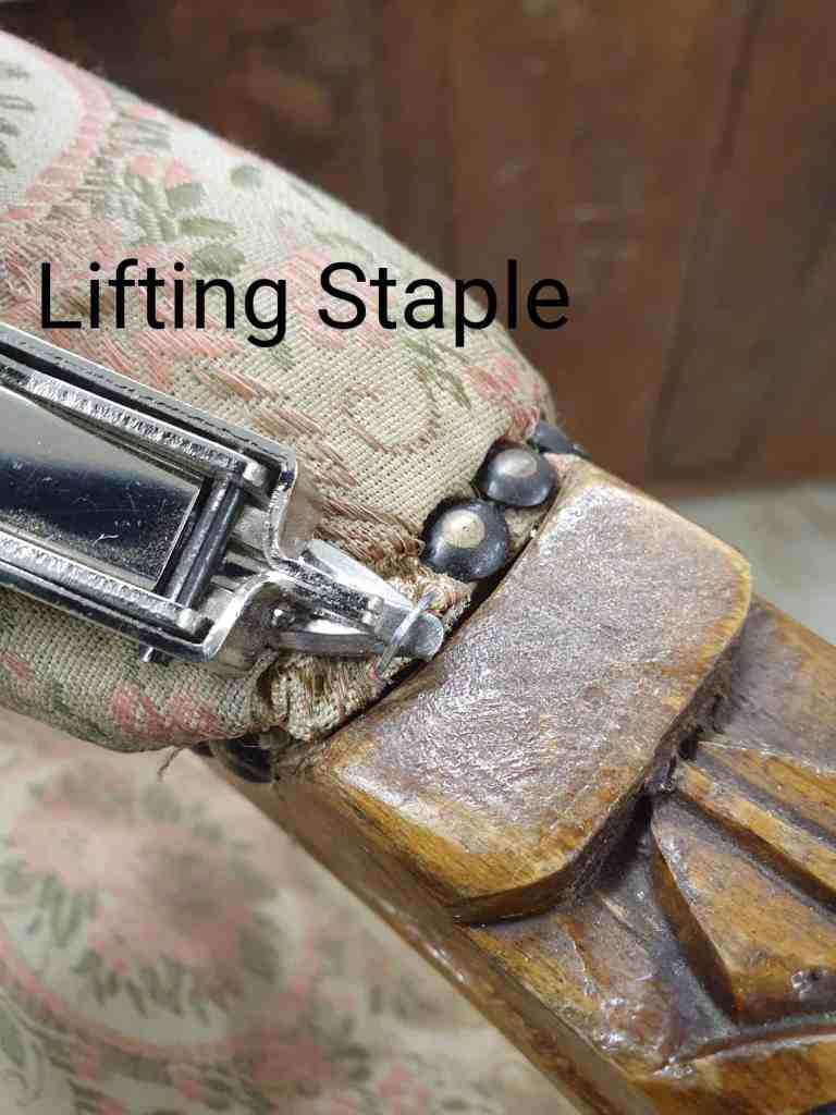 removing staples upholstery tutorial