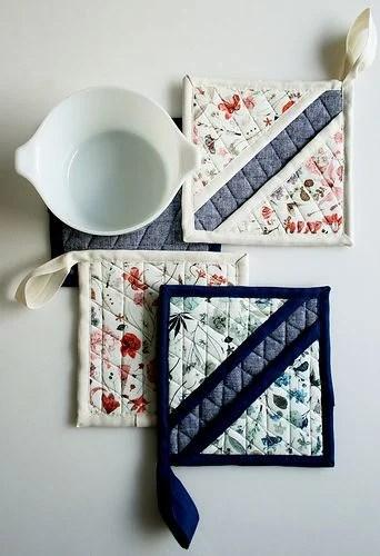 scrap fabric pot holder tutorial