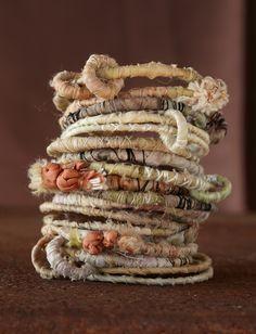 fabric scrap bangles