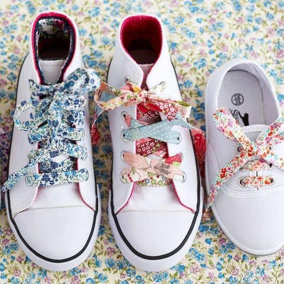fabric remnant shoe laces