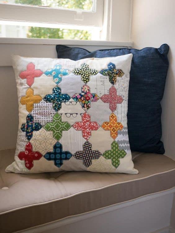 scrap fabric cushion