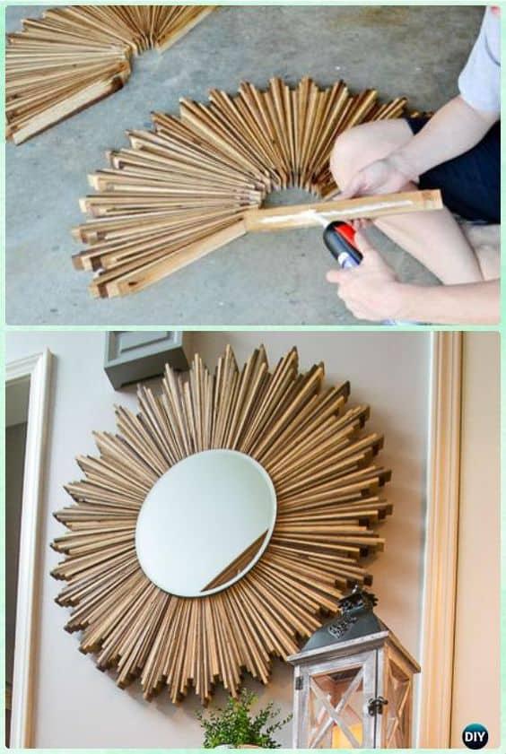 diy Art Deco style sunburst mirror