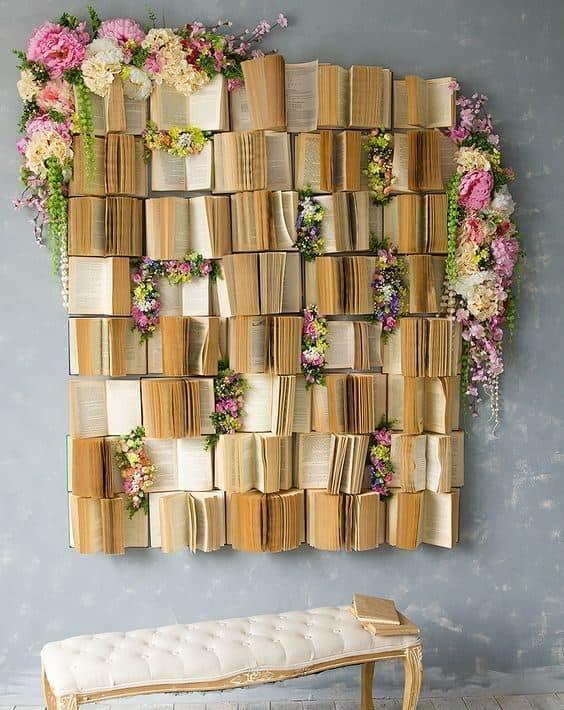 books as wall art