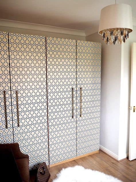 Art Deco wallpaper Ikea hack