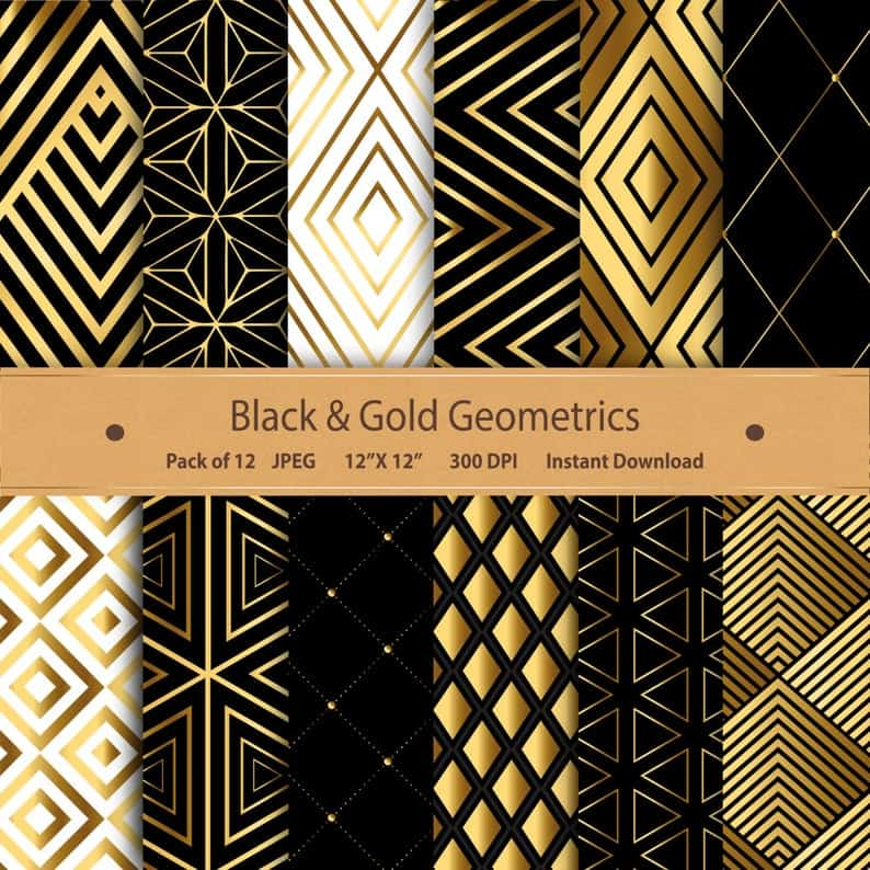 printable Art Deco patterns
