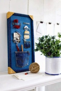 home office display board from jeans