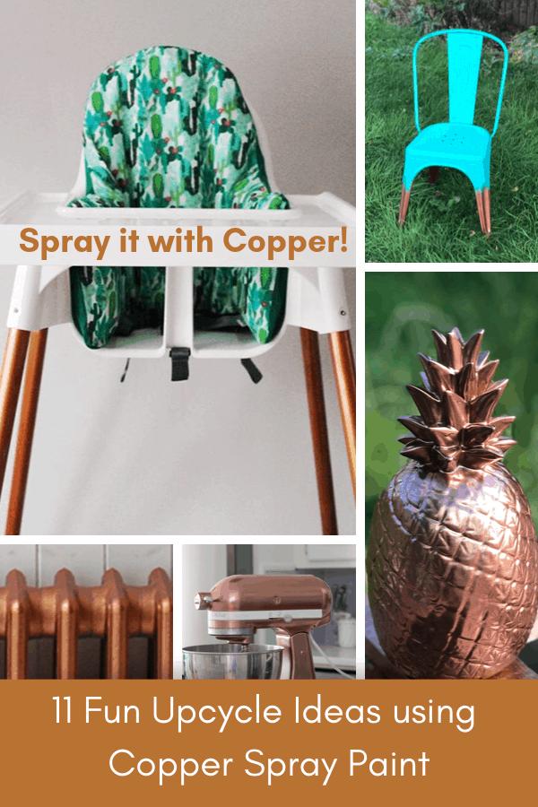 copper spray paint diy ideas