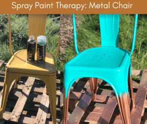 how to spray paint a metal chair