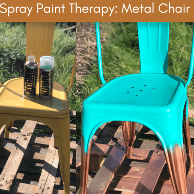 How to Spray Paint a Metal Chair – Easy Ombre Upcycle Project