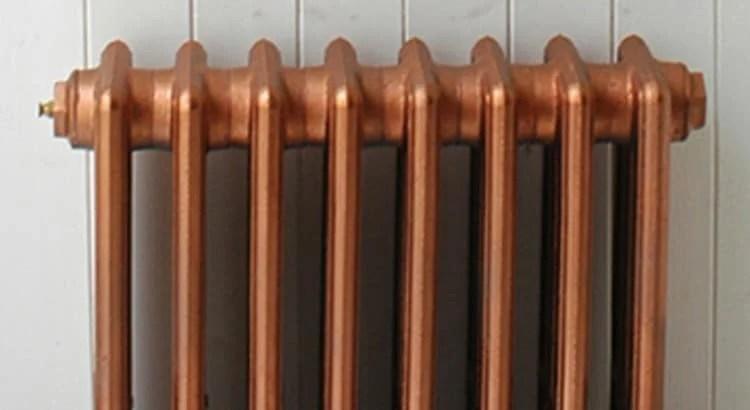 copper spray painted radiators