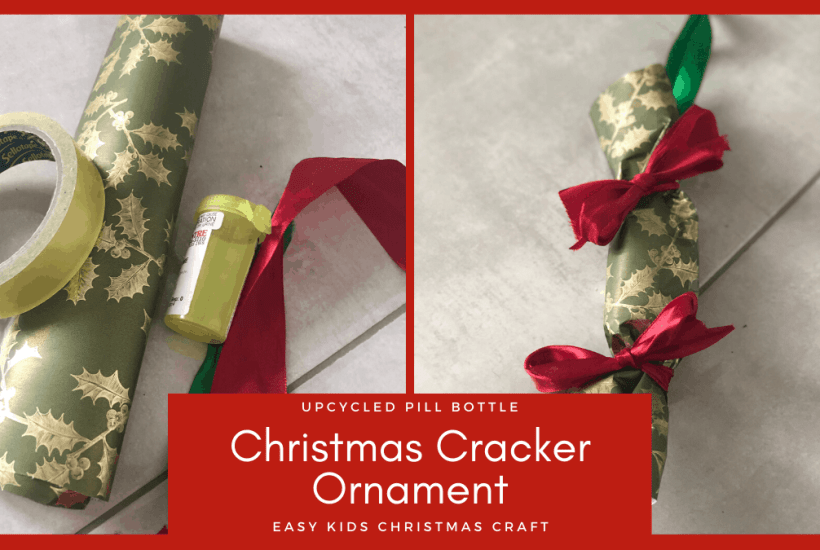 how to upcycle a pill bottle christmas ornament craft