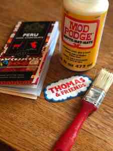 mod Podge Thomas and friends colouring book